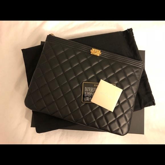 ce4ec02ab457 CHANEL Handbags - Chanel Boy medium pouch ( O case)